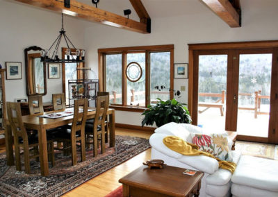 Dining Room | Vermont Horse Farm & Vacation Rental in Fayston, Vermont