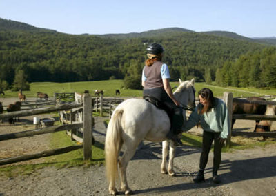 Riding a Horse | Vermont Icelandic Horse Farm & Vacation Rental in Waitsfield