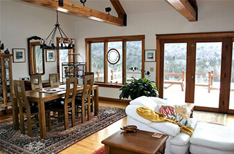 Vermont Dining Room | Vermont Icelandic Horse Farm & Lodging in Waitsfield